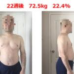 【第22週】40代中年男のメンズボディメイク実践記